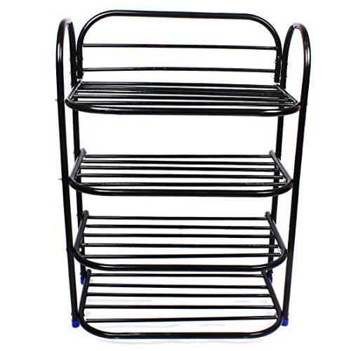 Ebee Shoe Rack with 4 Shelves (Black)