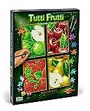 Noris Spiele Schipper 609340535 - Malen nach Zahlen - Tutti Frutti (Quattro), je 18x24 cm