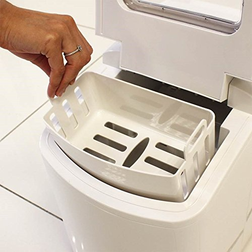 Household White Counter Top Ice Maker Machine 700g Ice Basket