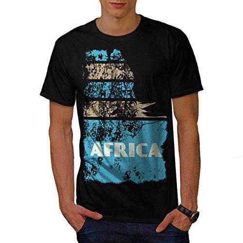 Dschungel Wüste Cool Afrika Land Leben Herren M T-shirt | Wellcoda (T-shirt Süd-afrika Flagge)