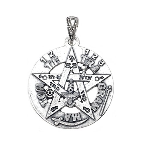 Colgante plata ley 925m tetragramatón 21mm. amuleto [AB1115]