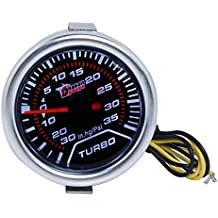 KKmoon Manómetro Digital Turbo Boost Gauge LED Digital Medidor para Auto Coche 52mm 2in