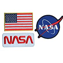 Nasa Space Shuttle Pilot Iron on Patch Super Set 01, parche con plancha, Iron on parches bordados, New, Set of 3 parches by onekool