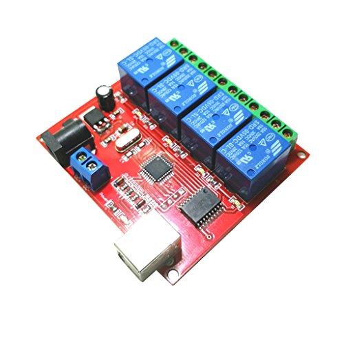 Homyl 5V USB Relais Modul 4 Kanal Programmierbare Computersteuerung für Smart Hause Design