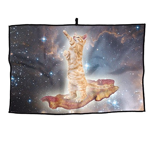 (Huenem Space Cat Unisex Casual tragbares Golf-Handtuch, 38 x 60 cm)