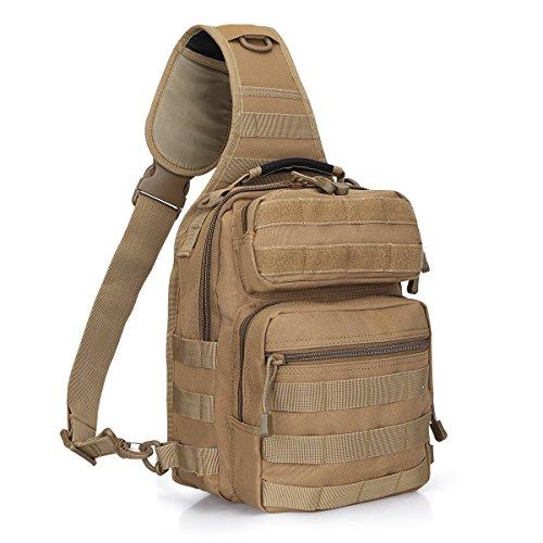 G4Free Outdoor Leichter taktischer Sling Rucksack Militär Sport Daypack Assault Kleine Schulter EIN...
