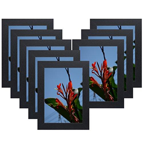 x 17,8cm Bilderrahmen aus Holz, Ohne Glas, Ohne Matte für Display Zertifikat/Foto/Bild für Wandhalterung Holz Schiene w50507b Schwarz ()