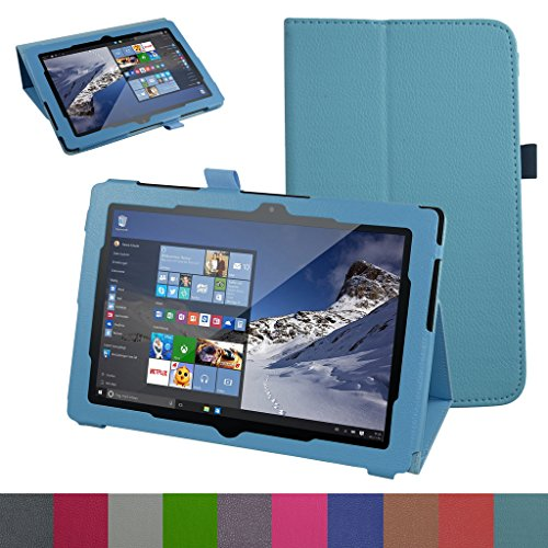 "Odys Wintab 10 / TrekStor SurfTab Wintron 10.1 hülle,Mama Mouth Folding Ständer Hülle Case mit Standfunktion für 10.1"" Odys Wintab 10 / TrekStor SurfTab Wintron 10.1 Tablet-PC,Hellblau"