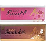 Balaji Deluxe Dhoop Incense Stick (10 Long Sticks) (Rose & Sandal) (Pack Of 6) Weight-80grm Apprx Each By Ratanjyot Aastha Gallery…