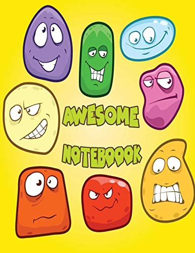 Awesome Notebook: Emoticon Bubble Emoji School Notebook Thank You Gift  : 120 Pages of 8.5