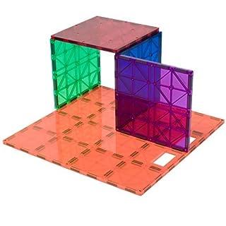 Playmags: superstrapazierfähiges Grundplatten-Set, fantastische Ergänzung zu jedem Magnetbaukasten, auch für Magnetbausteine anderer Hersteller - 1 Mal ca. 30,5 x 30,5 cm plus 4 Mal ca. 15 x 15 cm (Farben können variieren)