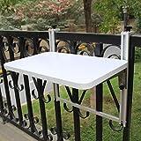 FUFU Wandhalterung Klappbare Hubtisch Balkon Kleine Bar Folding Hubtisch Freizeit Tisch Schreibtisch Einfach zu Computer Schreibtisch hängen Drop-Blatt-Tabelle ( Farbe : Weiß , größe : 60*35cm )