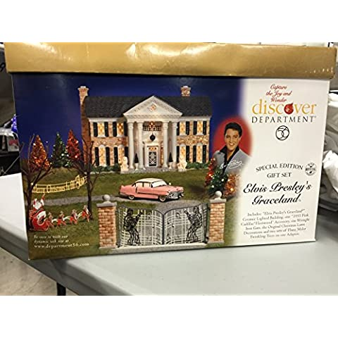 Elvis Presley Graceland Set de regalo (6 unidades) - departamento 56 (retirado)