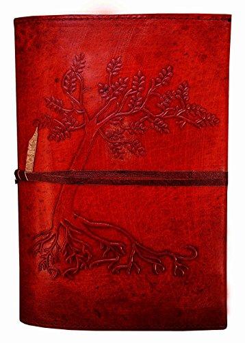 The Leather Artist Leder Tagebuch Schreiben Notebook-Baum Handgefertigt Antik Leder Bound Tägliche Notizblock für Herren und Damen Ungefüttert Papier Medium 21,6x 15,2cm - Leder Traditionellen Bett