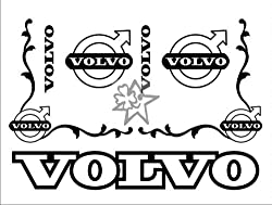 VOLVO No181 Set ca. 60x50 cm Aufkleber LKW Truck Tuning Trucker Sticker Decal von MYROCKSHIRT