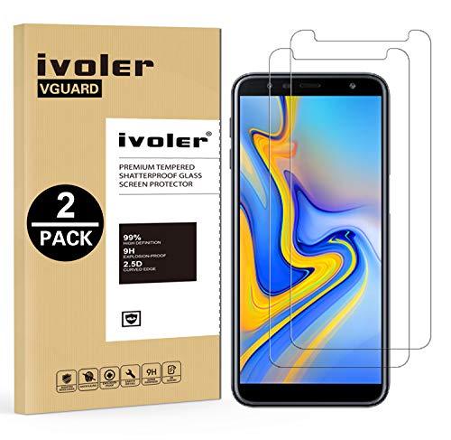 iVoler [2 Stücke] Panzerglas Schutzfolie Kompatibel für Samsung Galaxy J6 Plus 2018 / J4 Plus 2018, 9H Härte, Anti- Kratzer, Bläschenfrei, [2.5D R&e Kante]
