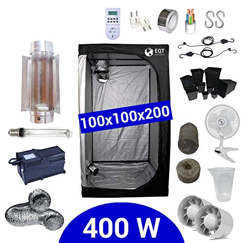 Kit Coltivazione Indoor 400W HPS Cooltube Protube - Grow Box 100x100x200 - Alimentatore ETI 2