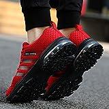 Privat: KUDOON Laufschuhe Herren Mesh Fitnessschuhe Atmungsaktiv Rutschfeste Mode Sportschuhe Training Sneakers Unisex Rote 44 - 6