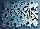Kare Design Wandspiegel Coccio, großer, moderner Designer-Dekospiegel, ausgefallener XXL-Designspiegel in Scherbenoptik (H/B/T) 140x100x3cm