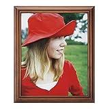 RPJC 20x25 cm (8x10 Inch) Bilderrahmen aus Massivholz High Definition-Glas für Bilder ohne Passepartout zur Wandbefestigung Fotorahmen Braun
