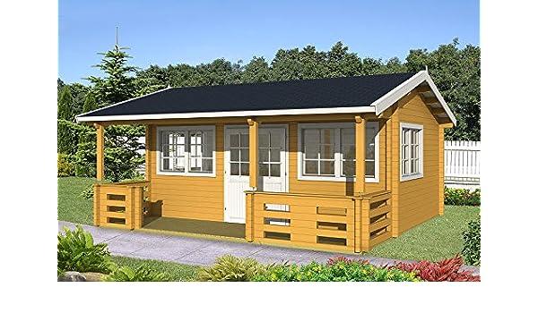 Gartenhaus Richard 70 Blockhaus Holzhaus 575 X 385 Cm 70 Mm