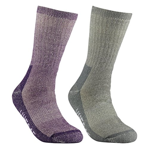 51mhdLqU sL. SS500  - YUEDGE Women's Merino Wool Hiking Walking Trekking Socks Merino Wool Cushioned Crew Socks For Hiking Backpacking Climbing Winter