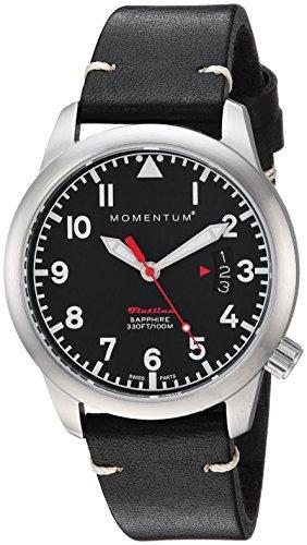 Momentum Women's Analog Quartz Watch with Leather Calfskin Strap 1M-SP19BS2B