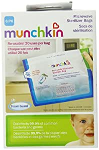 Munchkin Steam Guard Microwave Sterilizer Bags 6 Pack White