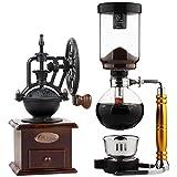 Wshuhouui Manuelle Kaffeemühlen Kaffeemaschine Home Glass Siphon Topf Siphon Typ Kaffeemaschine Kaffeemaschine