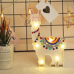 DierCosy Flamingo Night Light Silicone Bedside Light Battery Operated Cartoon Ornament Tabletop Lamp