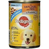 Pedigree Junior Hundefutter Geflügel und Reis, 12 Dosen (12 x 400 g)