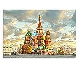 120x80cm Leinwandbild auf Keilrahmen Russland Moskau