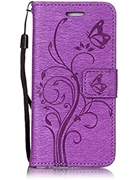 iPhone 6 Plus iPhone 6s Plus Wallet Case Flip Hülle , COZY HUT Ledertasche Schutzhülle Leder Tasche Case Cover...