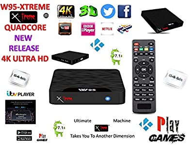 Android Tv Box Fully Xtreme 2018 Kodi tv boxes Pro Plus KODI 17.6 ultimate machine takes you to another dimension 4X CPU Marshmellow 7.1 AMLOGIC s905 cortex A53 64BIT 2Ghz Wifi 4K UHD H.265 Lan smart tv box quad core 8GB 2GB ULTRA HD Ethernet port, wifi p