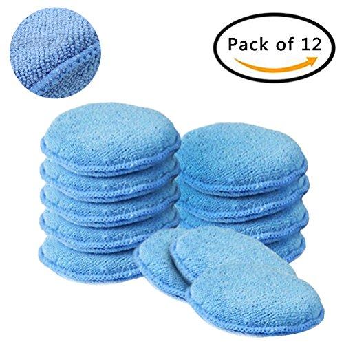 Funkelnden-Sterne-Auto-Reinigung-Weiches-Mikrofaser-Waxing-Pads-127-cm-blau-Polnisch-Schaum-Schwamm-Pad