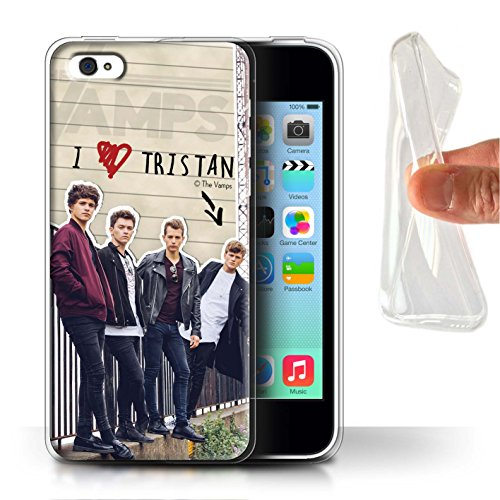 Officiel The Vamps Coque / Etui Gel TPU pour Apple iPhone 5C / Pack 5pcs Design / The Vamps Journal Secret Collection Tristan