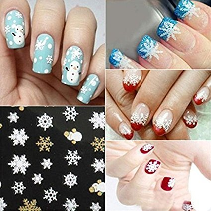 Waygo de Noël lumineux Stickers ongles
