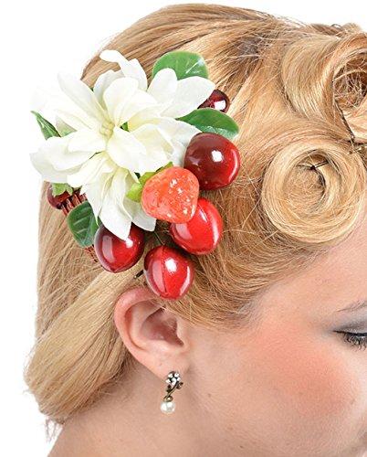Unbekannt Cute Tiki FLOWER Blüten Obst FRUIT Cherry HAARKAMM Rockabilly
