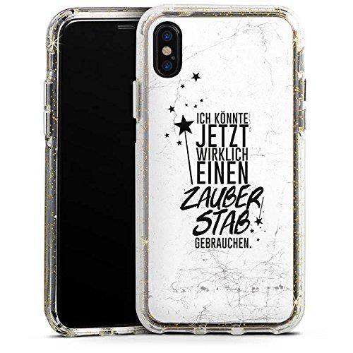 Apple iPhone 6s Bumper Hülle Bumper Case Glitzer Hülle Sprüche Sayings Phrases Bumper Case Glitzer gold
