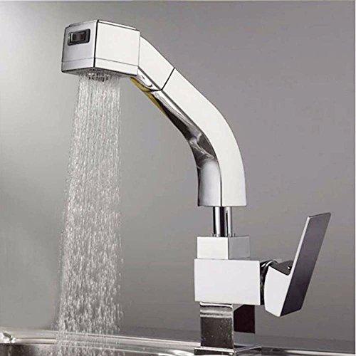 Upper-Küche Wasserhahn ziehen Becken voll Kupfer Wasserhahn warmes und kaltes bleifreie Küche Waschtisch Armatur Küchenarmatur, Leitungswasser