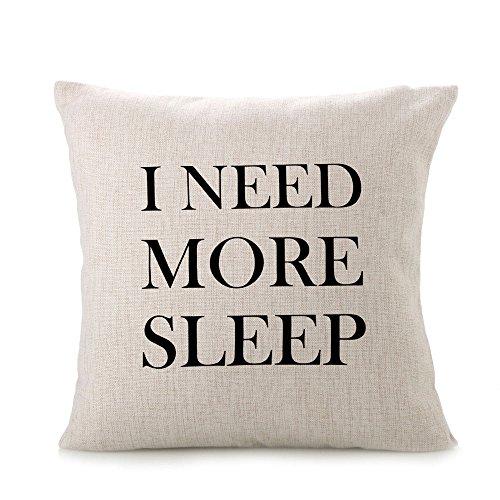 Mutterschaft Schlaf Kissen (hevoiok Kissen Fall I Need mehr Schlaf Festival Kissenbezug Sofa Bett Home Dekoration Kissen Fall abnehmbarer waschbarer Kissenbezug)