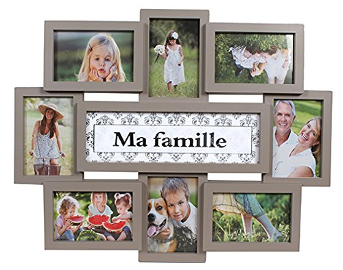 Pêle-Mêle CPC Ma Famille pour 8 photos - Taupe