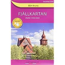 Fjällkartan 1 : 100 000 BD4 Kiruna Bergwanderkarte 1 : 100 000
