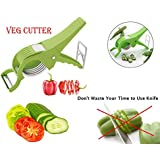 2 In 1 Multicutter Vegetable And Fruit Cutter And Peeler With 5 Stainless Steel Blade …