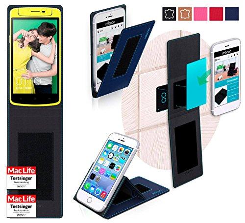 reboon Hülle für Oppo N1 Mini Tasche Cover Case Bumper | Blau | Testsieger