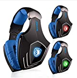 PC Gaming Headset ,SADES A60 7.1 Virtual Surround Sound Gaming Headphone with Microphone