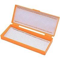 YeahiBaby Slide Box Caja de almacenamiento profesional Microscopio Caja de almacenamiento 50 Rejilla