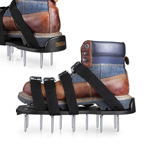 TACKLIFE Rasenlüfter Schuhe, 4 Riemen Rasenbelüfter-Nagelschuhe, 30cm Lange Sohlen, 5,5cm Lange Nägel, 4 einstellbare Riemen mit Metallschnalle GAS1A
