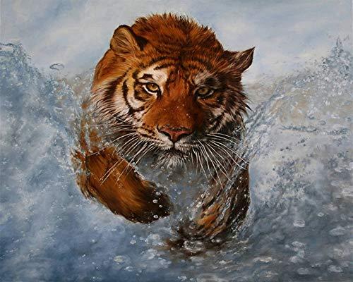 Cuadro tigre 5D pintura diamante pintura punto cruz