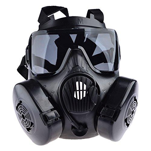 Seciie Dummy Anti Gas Masque M50 Masque Tactique à Gaz Masque de Protection Visage Complet pour Airsoft Paintbal CS